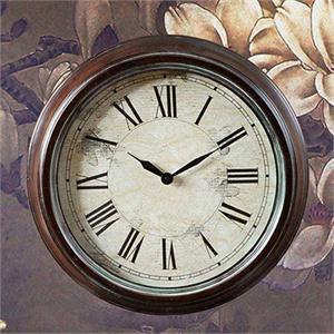 经典欧式 铁艺挂钟 装饰挂钟 时尚挂钟 暗红色 ajh120