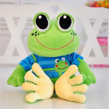 可爱卡通青蛙毛绒玩具青蛙王子公仔大眼蛙布娃娃创意生日礼物_36厘米