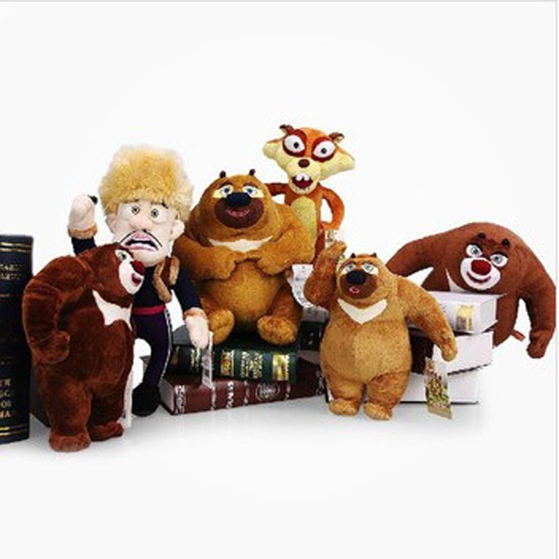 毛绒玩具 熊出没 儿童礼物 熊大 熊二 光头强 松鼠毛绒公仔_套 装