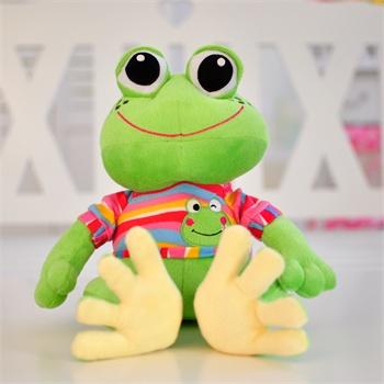 可爱卡通青蛙毛绒玩具青蛙王子公仔大眼蛙布娃娃创意生日礼物_26厘米
