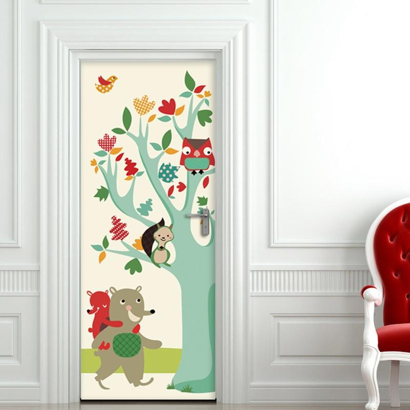 客厅卧室儿童房卡通室内*门贴图片