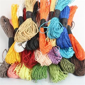 艺趣幼儿手工材料彩色拉菲细纸绳儿童diy编织制作黏贴