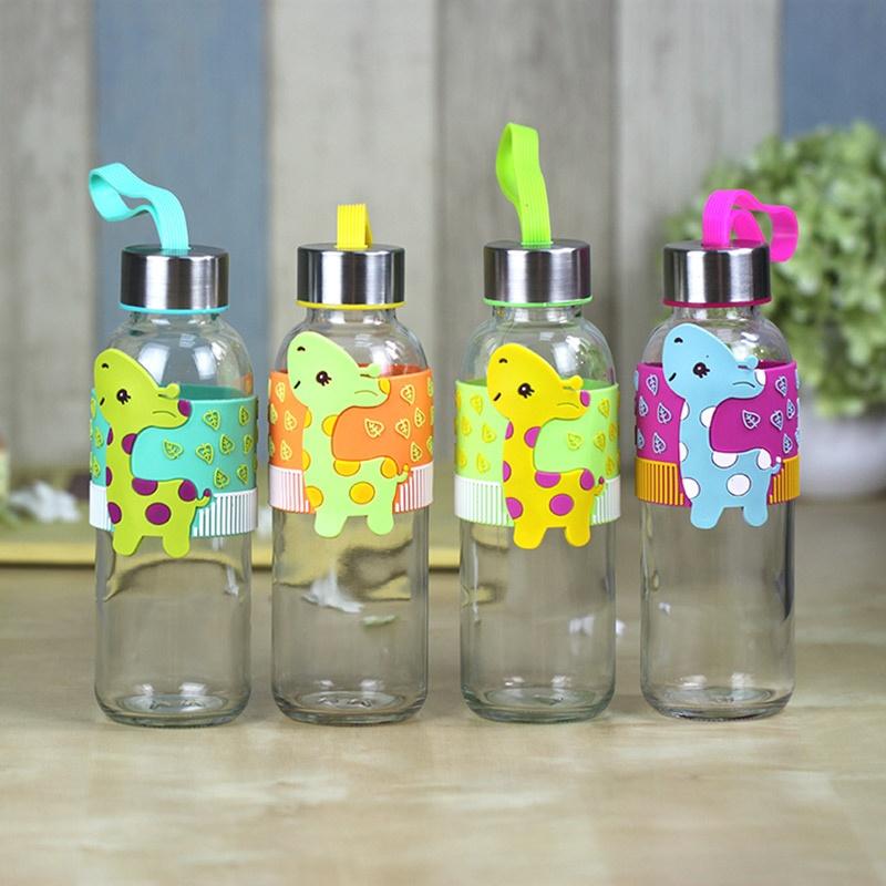 可爱动物造型 玻璃水瓶xyy10