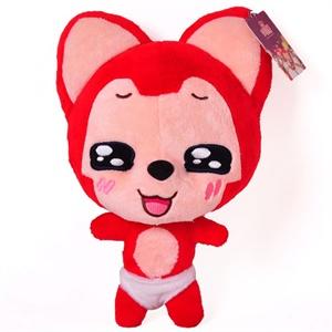 正版阿狸公仔超可爱红色抱抱狸毛绒玩具动漫卡通毛绒公仔娃娃创意生日