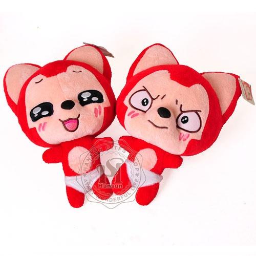 正版阿狸公仔超可爱红色抱抱狸毛绒玩具动漫卡通毛绒