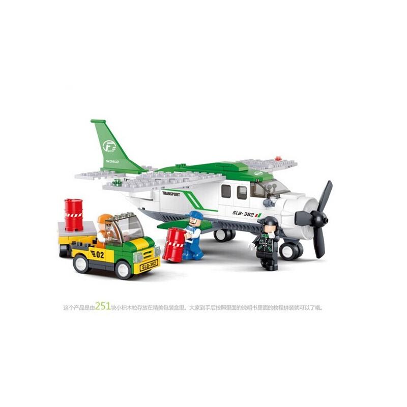 小鲁班 乐高式 航空天地c 小型运输机 乐高式拼装积木b0362