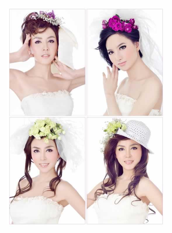 讲解了婚礼当日新娘发型的打造手法及风格特点