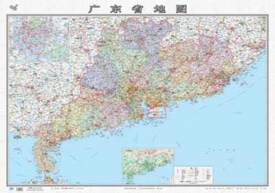 新编中国分省系列地图:广东省地图(1:1990000)