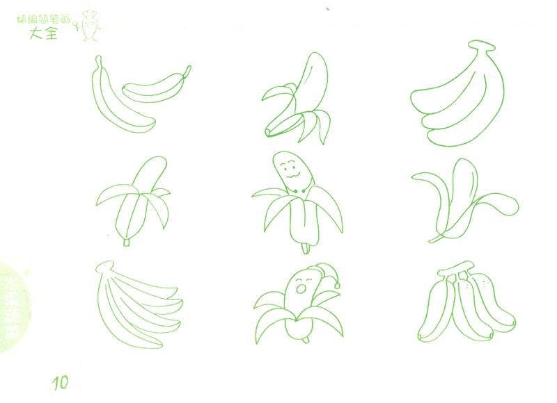 《精编简笔画大全》素材图片为1500幅,包括动物,植物,物品,水果蔬菜图片