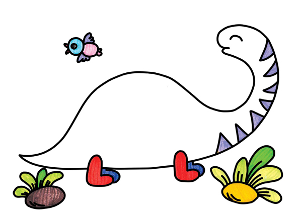每个步骤带个小短句,可爱又有趣,这个步骤妈妈们可以给宝宝准备图画本
