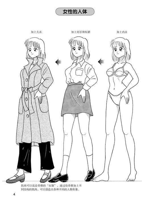 日本漫画手绘技法经典教程4:女孩子的画法