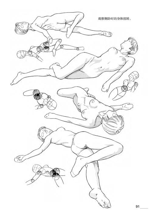 日本漫画手绘技法经典教程2:人物身体的画法
