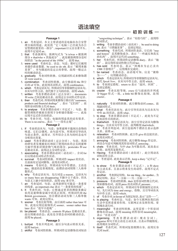 进阶特训-高中英语语法填空-七选五-短文改错(社团高中章程图片