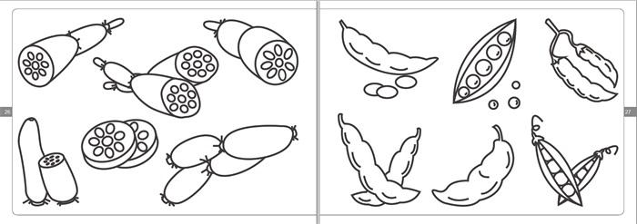 水果蔬菜篇,可爱人物篇,交通工具篇,生活用品篇,风景建筑篇和动物王国