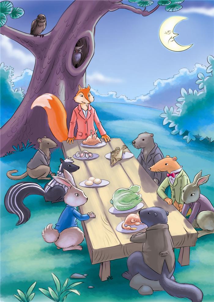 西风妈妈和小动物们的故事快乐的小微风