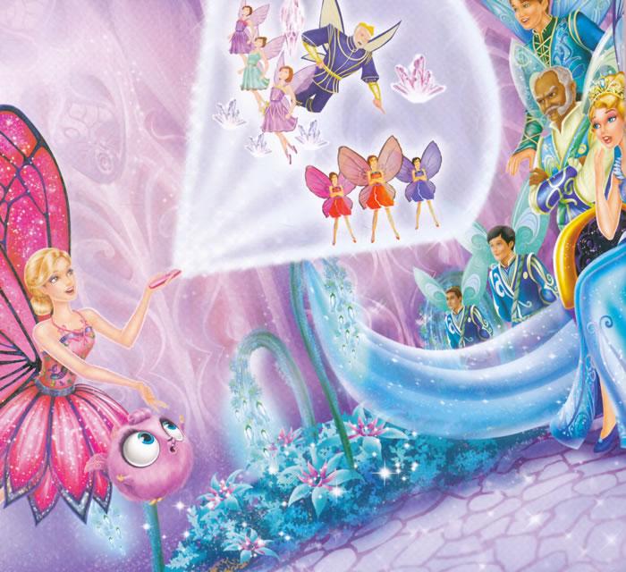 芭比小公主影院,蝴蝶仙子和精灵公主