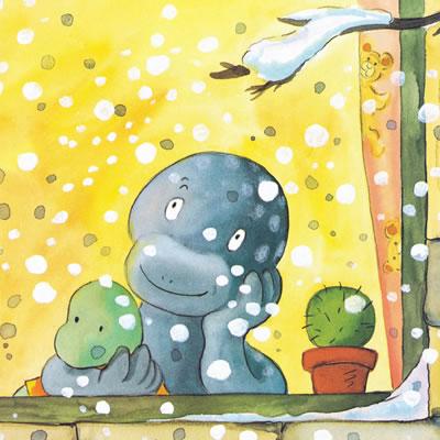 小恐龙幼儿园情商培养图画书.下雪了/22621797