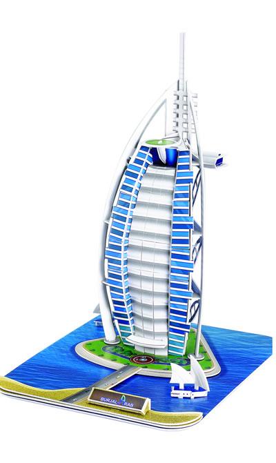 q书架·爱拼·3d益智手工:世界著名建筑文化之旅·奢