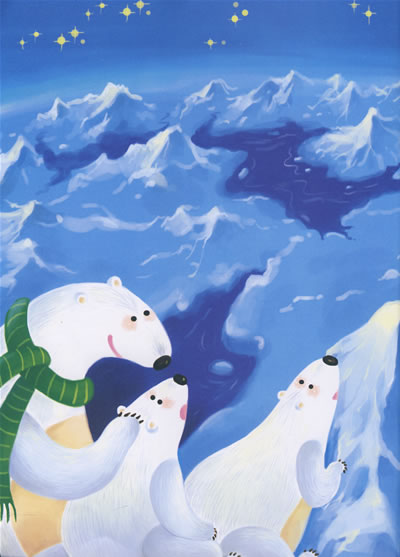 北极插画矢量图