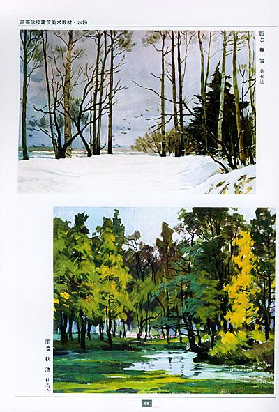 学习水粉画风景画的途径  第三节 风景画的作画步骤  第四节 各种景物