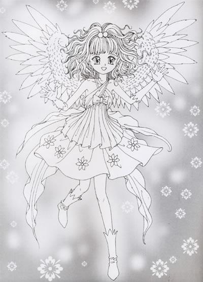 可爱天使美少女填色超级版