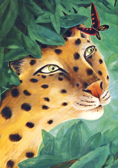 flash森林动物背景素材 老虎