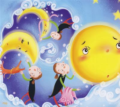 太阳和月亮打一成语