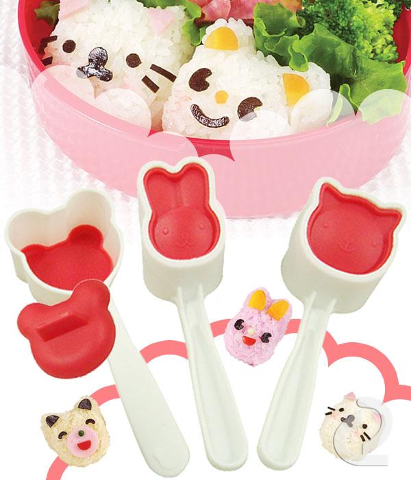 arnest小动物造型寿司模具三件套