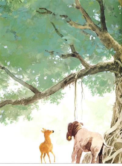 鹿·狮子·猫头鹰·象:动物日记(中英文对照·绘本)