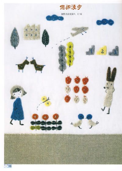 8   一 手提袋实例制作   甜美少女手袋 二 贴布应用图案集  可爱
