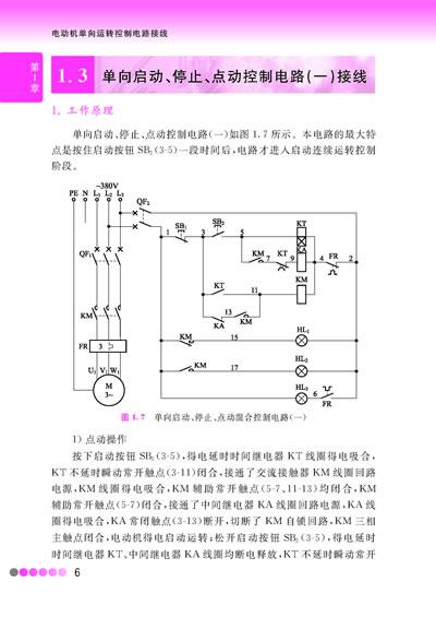 1 单向点动控制电路接线  1.