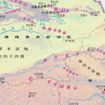 详图新疆 西藏 青海 甘肃(2013最新版)(撕不烂地图