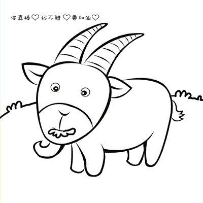 钟表的动物形状简笔画