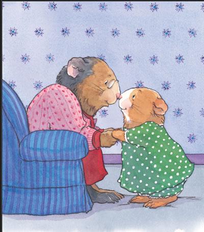 小朋友看书简笔画色彩