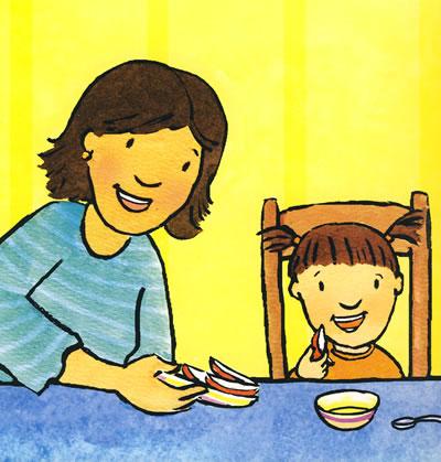 幼儿学画动物牙齿