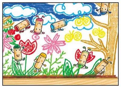 儿童创意涂鸦画