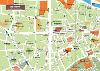 巴黎旅游地图  巴黎  香榭丽舍大道  香榭丽舍  埃菲尔铁塔/荣军院
