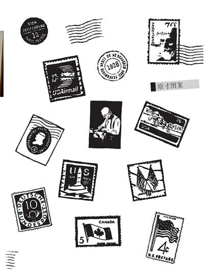 橡皮章素材简单小图带框